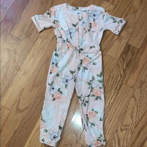 Girls Floral Jumpsuit